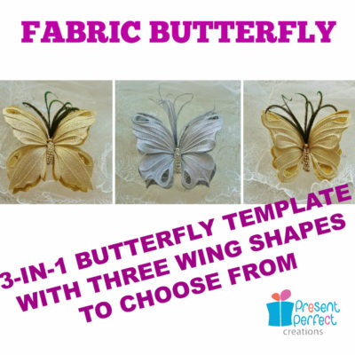 Fabric butterfly template 3-in-1 (pdf format) - PresentPerfect