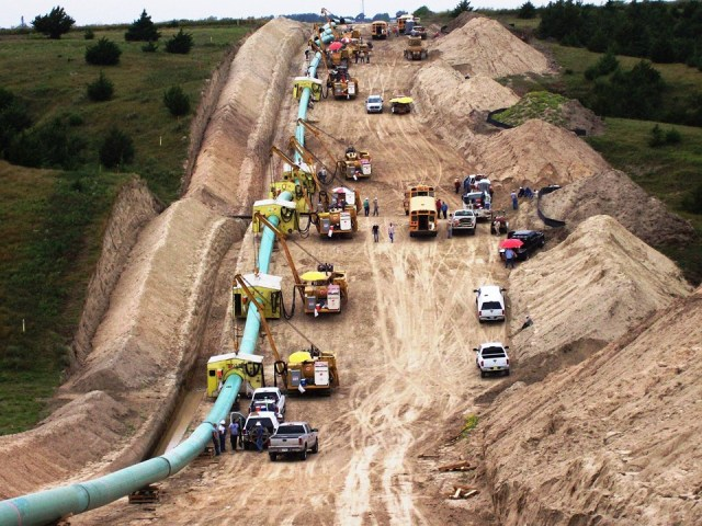 "Construction of a 42"" diameter pipeline in the mid-west. NO Pipelines! YES to Property Rights!"