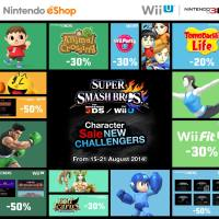Nintendo Announces eShop Sale To Celebrate Smash Bros Characters