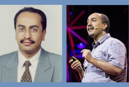 Then: Walid Al-Saqaf as a fellow in 2005 Now: Walid Al-Saqaf speaking at a TED conference in 2012