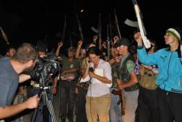 Alia Ibrahim reporting live