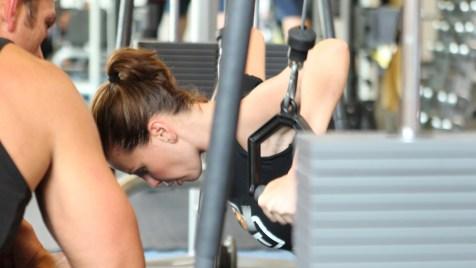 Cathy Zimmermann beim Training