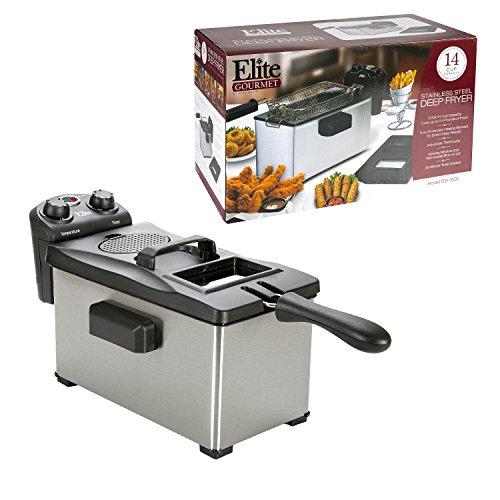 Elite Gourmet Edf 3500 3 5 Quart Deep Fryer Stainless