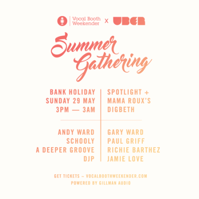 VB (Vocal Booth) UBER Summer gathering 29 may 2016 Flyer