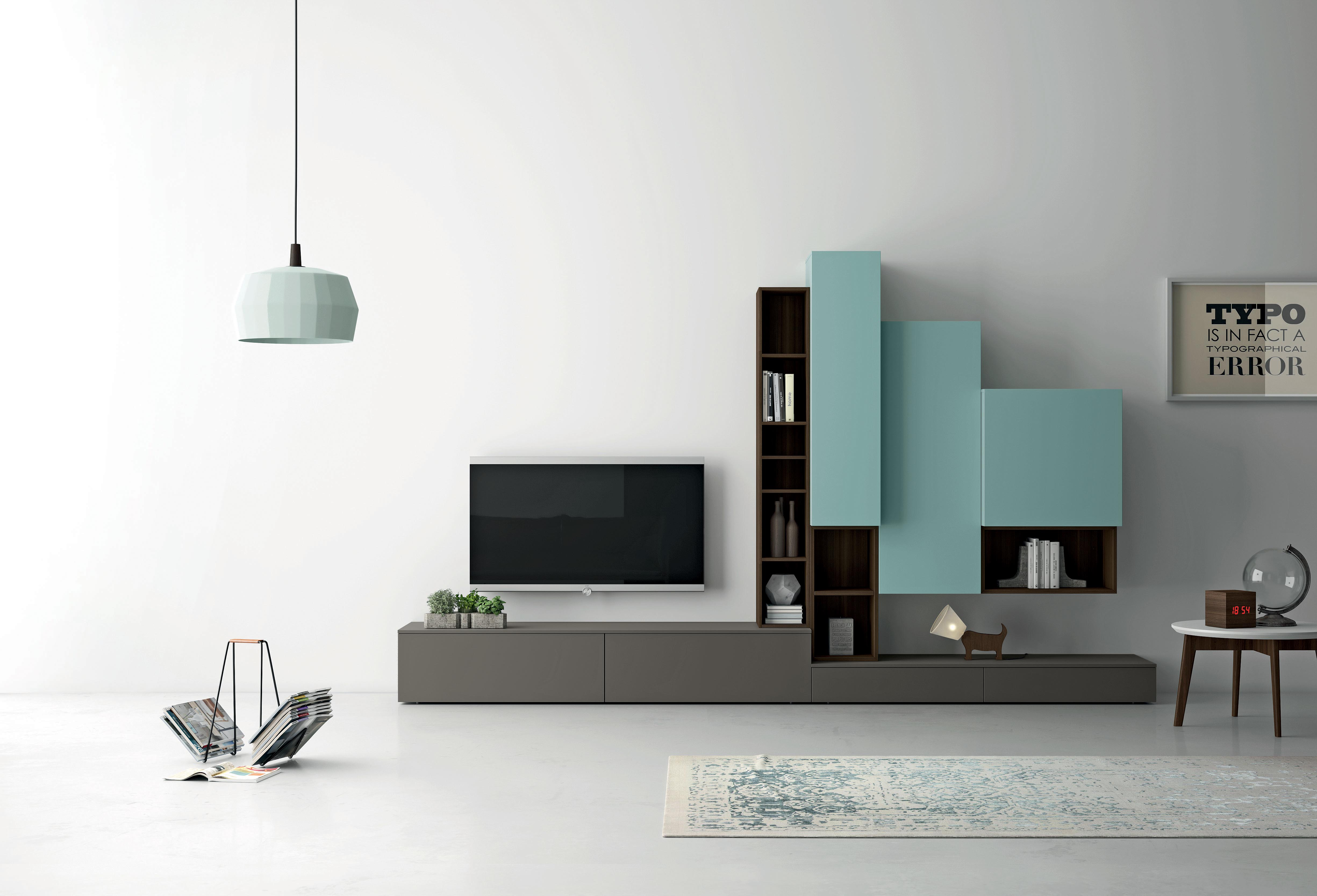 Slim Tv Unit Italian Wall Units Modern Furniture Chicago