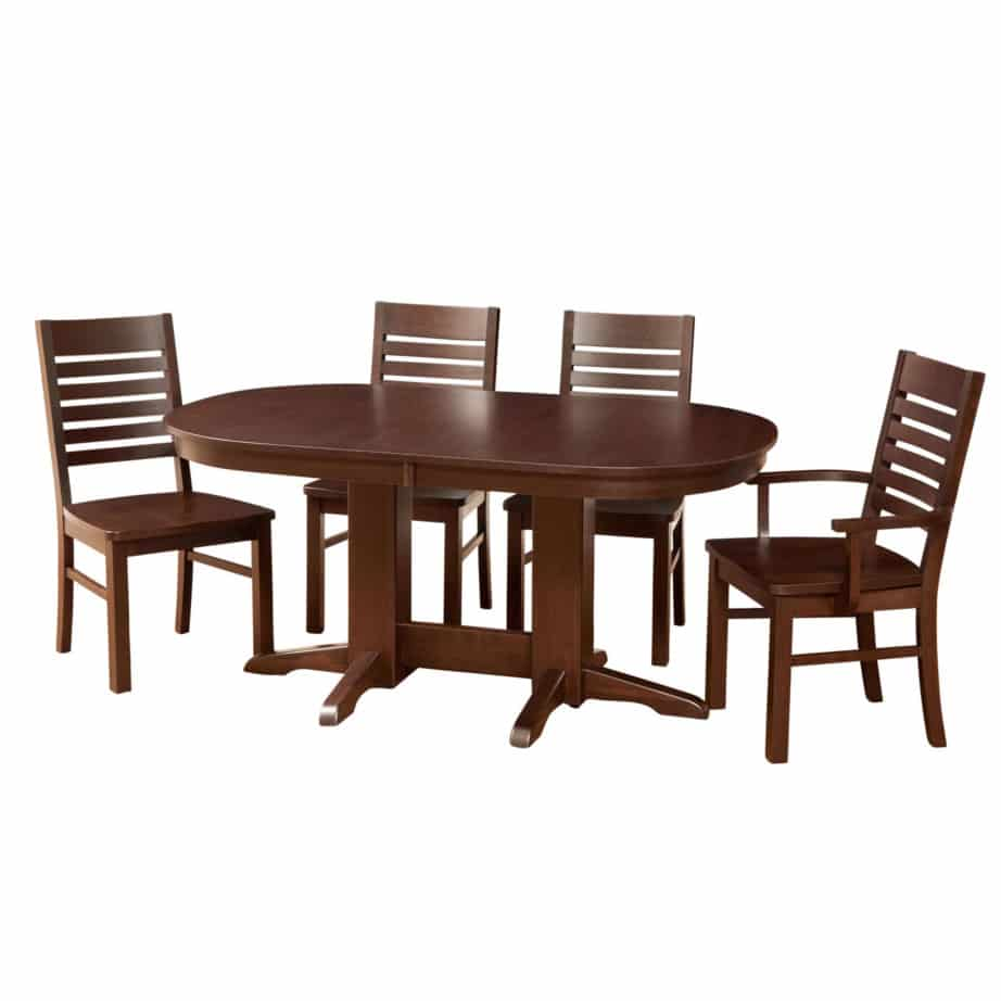 Oval Dining Table Canada Contemporary Oval Trestle Table Prestige Solid Wood Furniture
