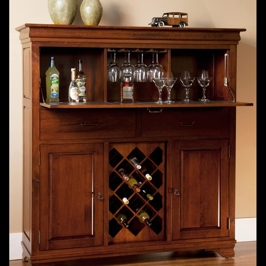 Morgan Small Bar Cabinet Prestige Solid Wood Furniture Port Coquitlam Bc