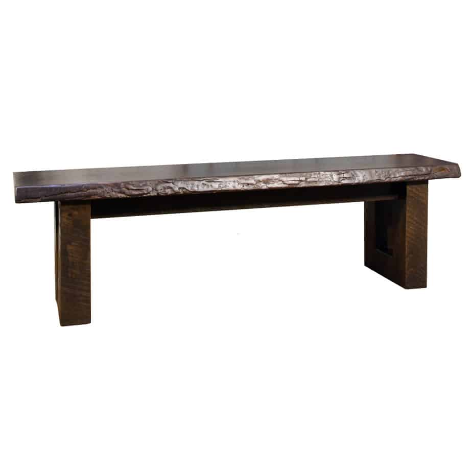 Urban Sofa Live Edge Knex Live Edge Bench Prestige Solid Wood Furniture Coquitlam Bc