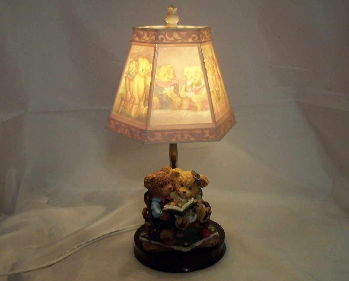 Lamps For Baby Nursery Teddy Bear Lamp W Bear Scene Shade Nursery Or Desk