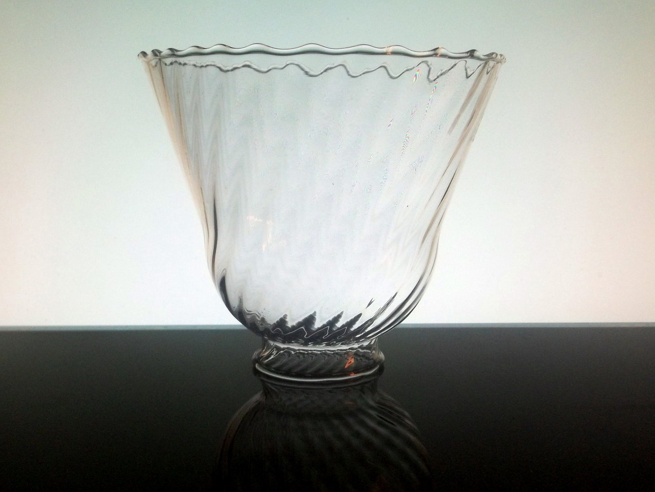 Glas Lamp Glass Lamp Shade 2 1 8 Fitter X 5 X 5 5 Inches Rippled