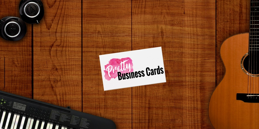 Music Teacher Business Cards - Pretty Business Cards