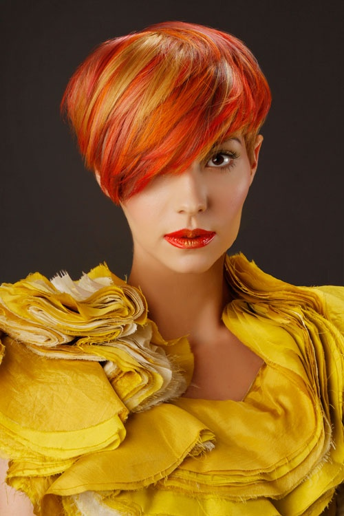 Short Hairstyles Dyed 14 Most Striking Colored Hairstyles For 2014 Pretty Designs