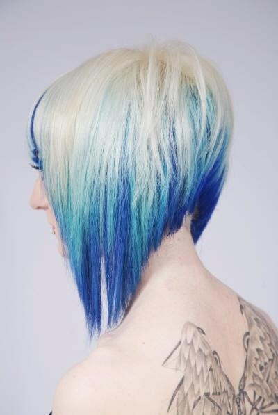 Short Hairstyles Dyed Latest Hair Color Trend Dreamy Blue Hair Pretty Designs