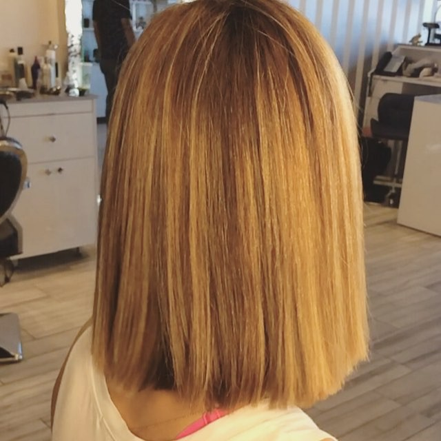 Hairstyles For Medium Hair Highlights 9 Simple Blunt Bob Hairstyles For Medium Hair Pretty Designs
