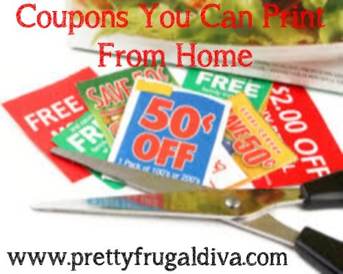 Print Your Coupons from Home 5/19
