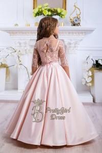 Pretty Peach Flower Girl dress - Fanny