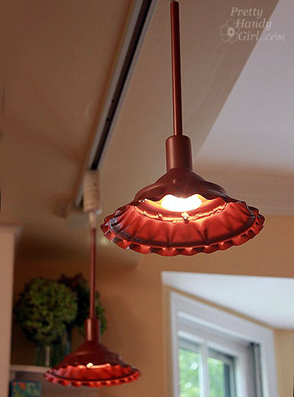 Lamp Shot How To Make Farmhouse Style Metal Pendant Light - Pretty