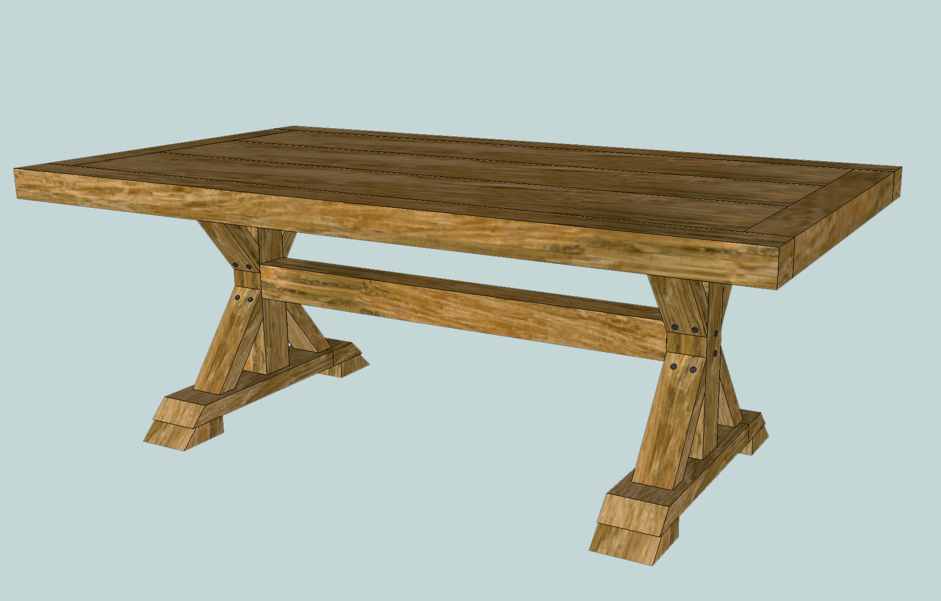 How To Build A Farmhouse Table Youtube How To Build A Chunky X Farmhouse Table Pretty Handy Girl