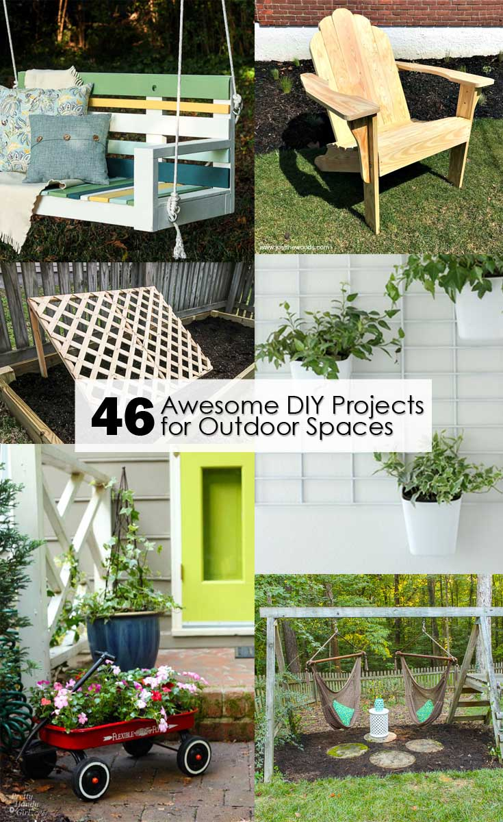 Diy Pinterest 46 Awesome Diy Projects For Outdoor Spaces Pretty Handy Girl