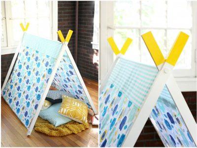 DIY A-Frame Play Tent