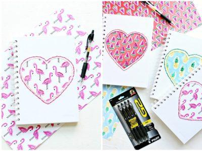 DIY Stitched Notebooks
