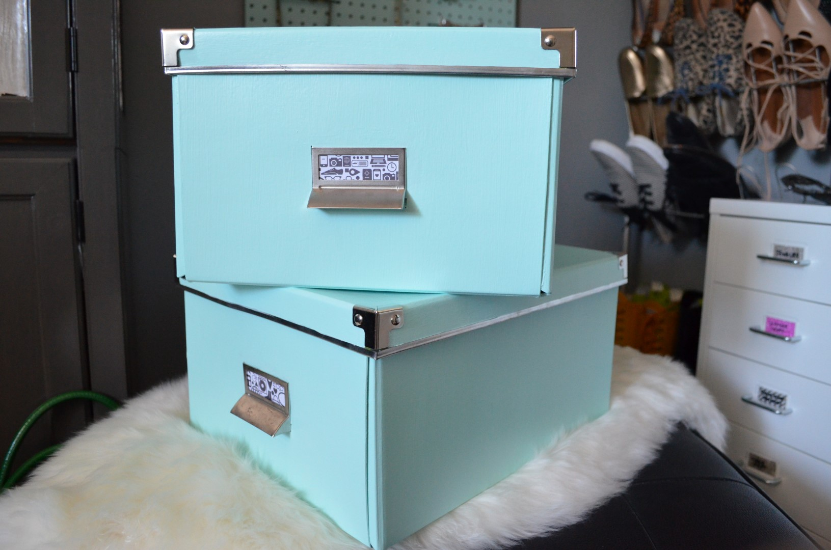 Ikea Tonne Diy Painted Storage Boxes The World S Easiest Ikea Hack