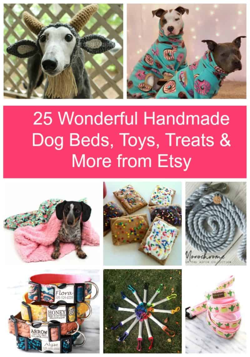25 Cute Handmade Dog Beds Toys Treats More From Etsy Pretty Opinionated