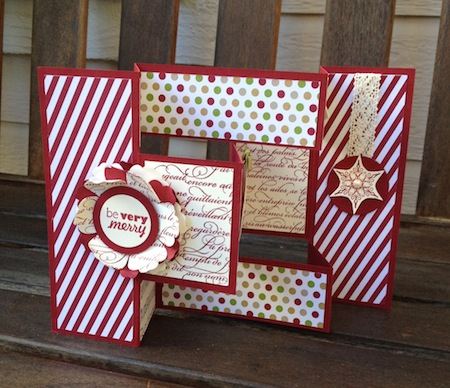 Christmas Tri-Fold Card - Pretty Paper Cards - Tri Fold Card
