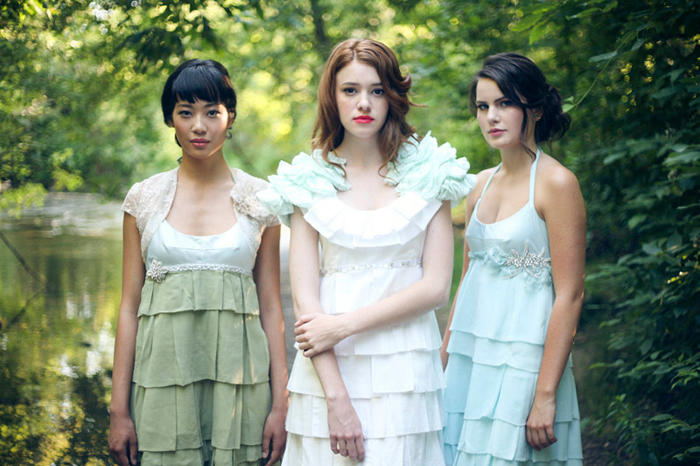 Anemone Bridesmaid Dresses in layers of chiffon from hollystalder