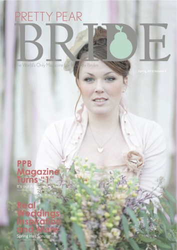 pretty pear bride spring issue 2013, plus size bride,