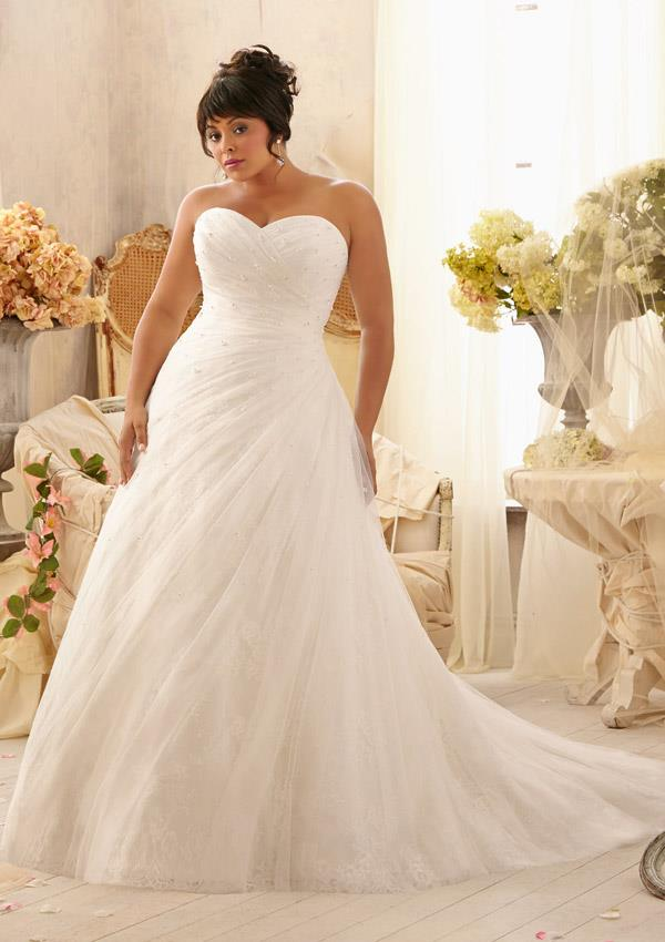 Curvy wedding dress of the week mori lee julietta for Plus size wedding dresses near me