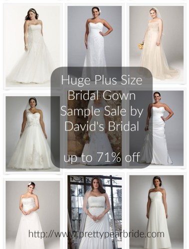 HUGE SAMPLE SALE on Plus Size Wedding Gowns up to 71% off | David's Bridal