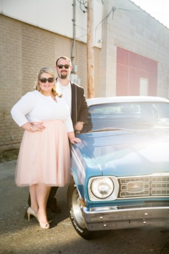 {Engagement} Romantic Engagement featuring a Classic '74 Plymouth Duster | Amber Green Photography