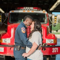 Engagement | Fire Station Downtown Engagement in California | Stevie Dee Photography
