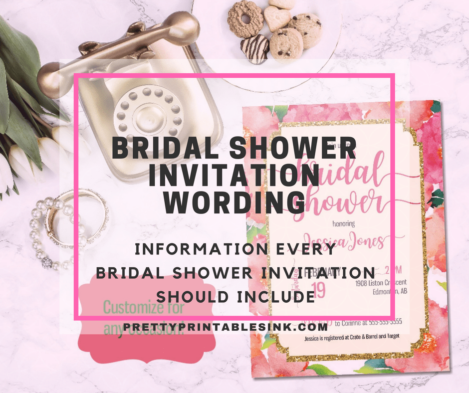 Formal Invitation Etiquette Bridal Shower Invitation Wording - What You Need To Know