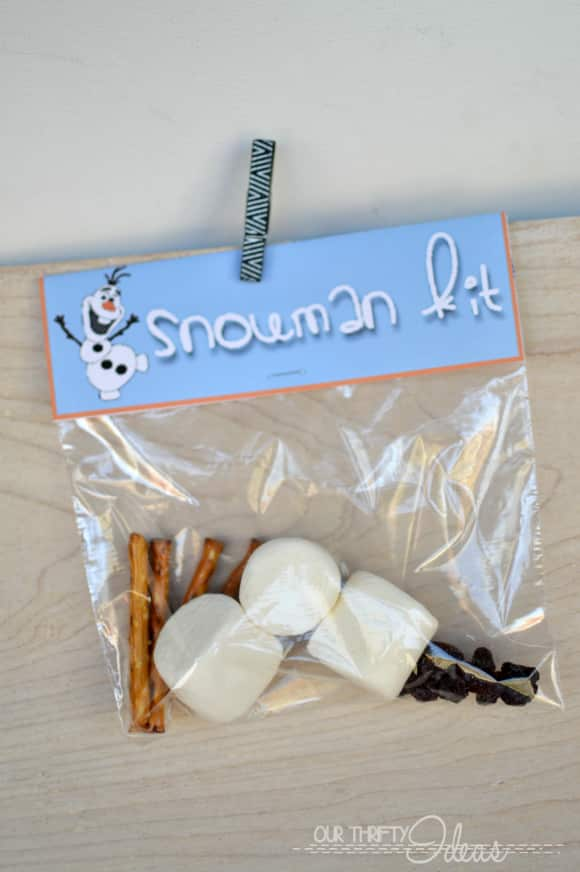 Treat Bag Toppers - Do you wanna build a snowman - Pretty Providence