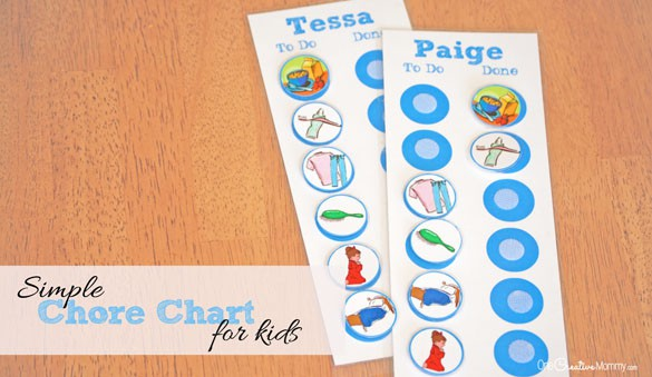 Simple Chore Chart for Kids - Pretty Providence - kids chart