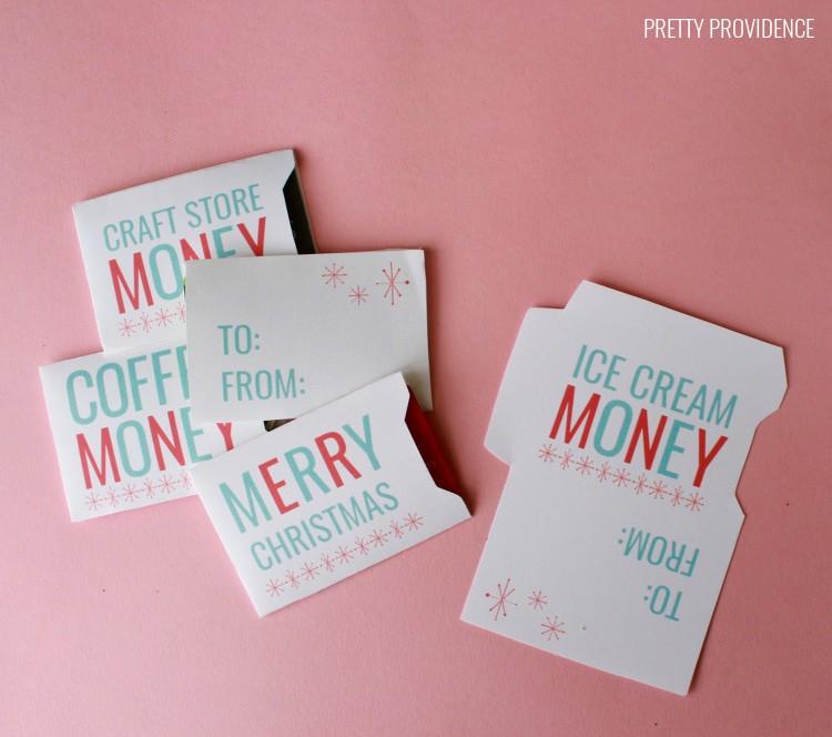 Christmas Gift Card Sleeves - Free Printable!