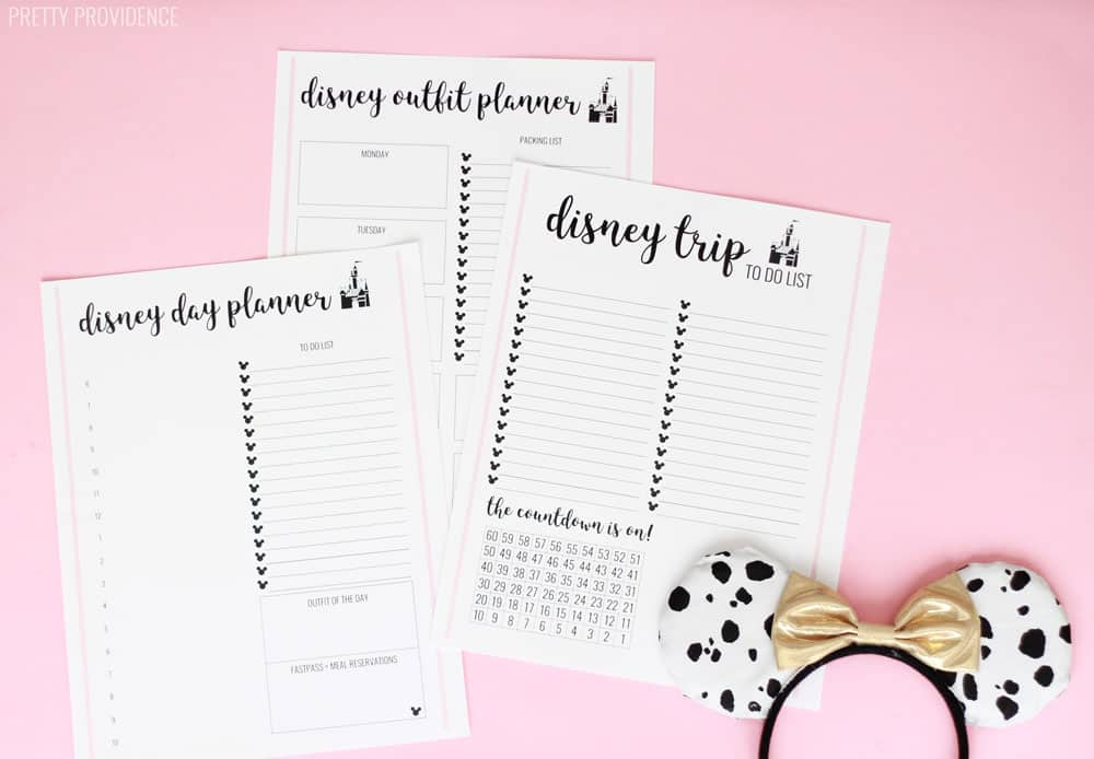 Disney Trip Planner Sheets - Pretty Providence
