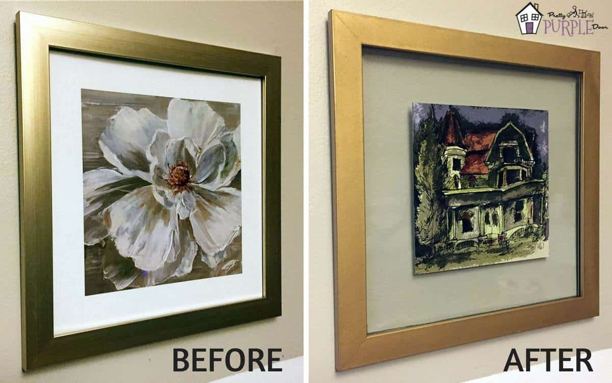 Diy Picture Frame Glass Diy Floating Glass Frame From Any Picture Frame Pretty Purple Door