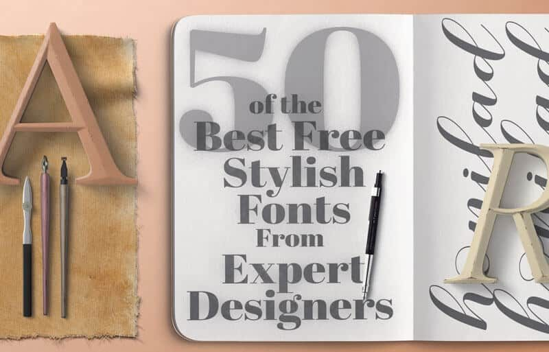 Stylish Fonts A Collection of 50 Stunning Free Fonts - PrettyWebz