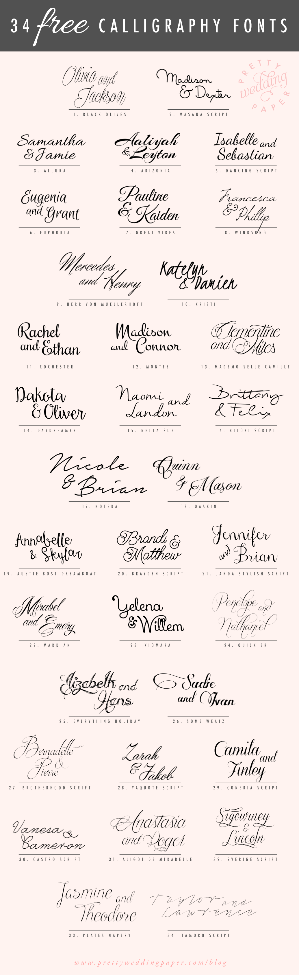 Calligraphy Font Modern Free 34 Free Calligraphy Script Fonts For Wedding Invitations
