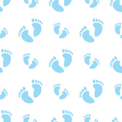 Cut Boy And Girl Wallpaper Seamless Baby Feet Background Stock Vector