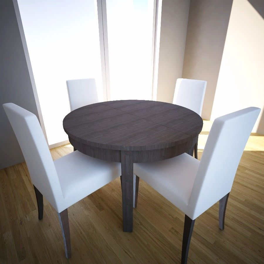 Mesa Comedor Extensible Ikea Extensible Table And Chairs Ikea Bjursta Henricksdal 3d Model