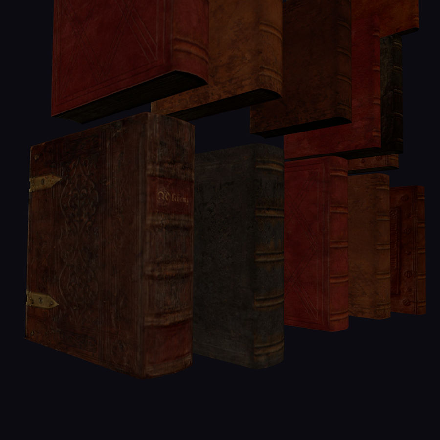 Altes Bücherregal Altes Bücherregal Set Low Poly 3d Modell 25 Blend Obj Free3d