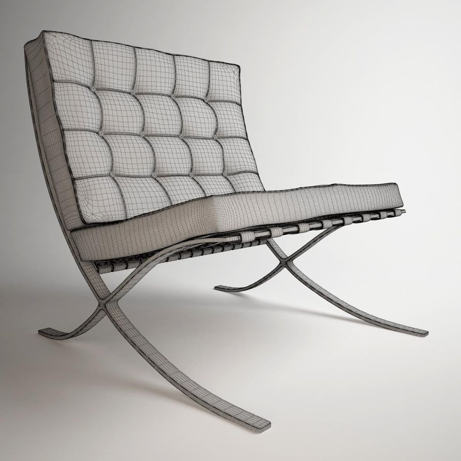 Barcelona Sessel Knoll Knoll Barcelona Chair 3d Model 19 Obj 3ds Max Free3d