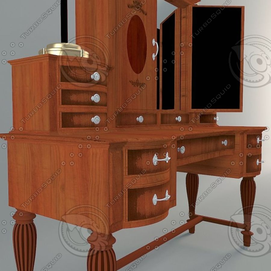 Model De Dressing Provasi Dressing Table 3d Model 2 Obj Max Fbx Free3d