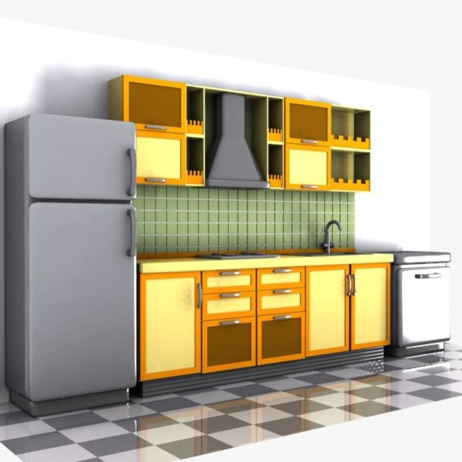 Kitchen Design 3d Model Cartoon Kitchen Interior 3d Model 15 Unknown Obj Max Fbx 3ds