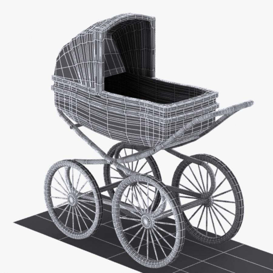 Bugaboo Bee Stroller Specifications Cartoon Stroller 3d Model 15 Unknown Obj Max 3ds