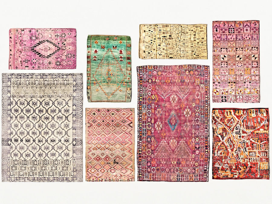 Carpet Woven Vintage Moroccan Vol 02 3d Model 7 Oth